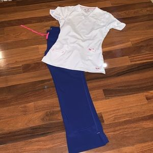 Medical Smitten xxs top and pxs  blue pants